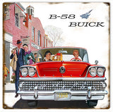 Vintage B-58 Buick Sign 12x12