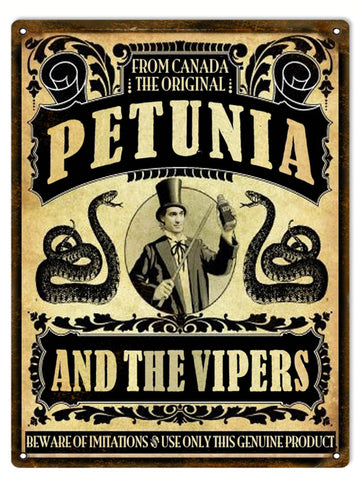 Vintage Petunia Genuine Product Sign 9x12