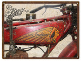 Vintage Indian Motorcycle Sign 9x12