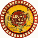 Vintage Lucky Strikes Cigarette Sign 14 Round