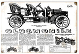 Vintage 1906 Oldsmobile Sign