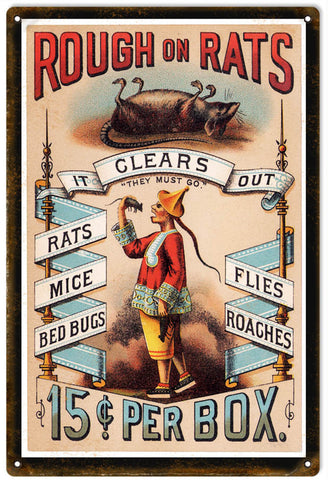Vintage Rodents And Insect Killer Sign