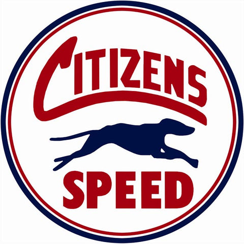 Citizens Speed Motor Oil Sign 14 Round