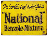 Vintage National Motor Oil Sign 9x12
