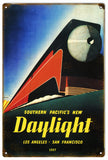 VintageSouthern Pacific Daylight Railroad Sign