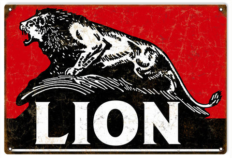 Vintage Lion Motor Oil Sign