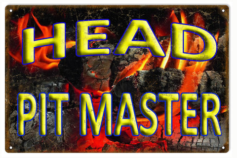 Vintage Head Pit Master Sign