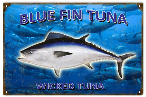 Vintage Blue Fin Tuna Sign