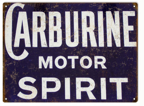 Vintage Carburine Motor Oil Sign 9x12
