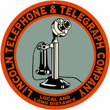 Lincoln Telephone And Telegraph Sign 14 Round