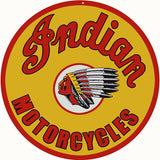 Indian Motorcycle Sign 14 Round