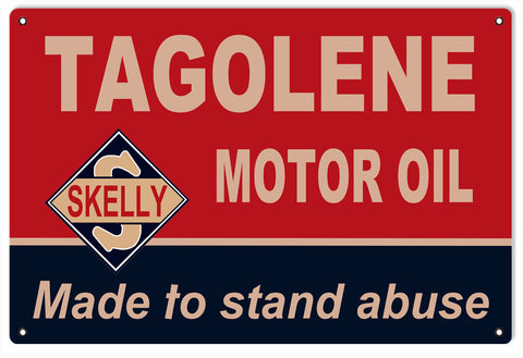 Tagolene Skelly Motor Oil Sign