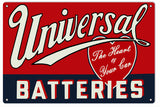 Universal Batteries Sign