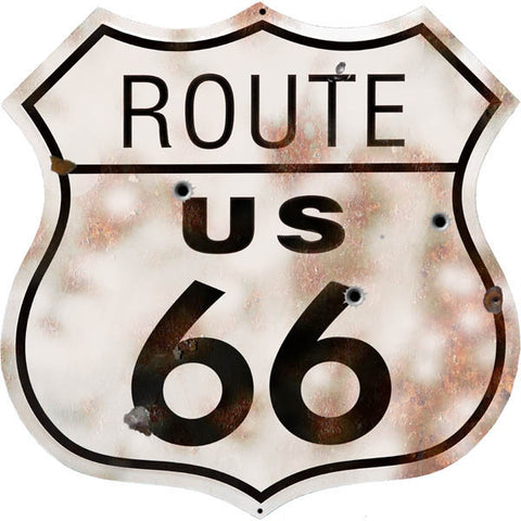 Vintage Route 66 Automobile Sign 15x15