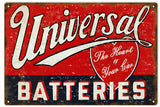 Vintage Universal Batteries Sign