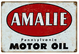 Vintage Amalie Motor Oil Sign