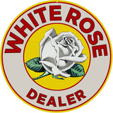 White Rose Dealer Sign 14 Round