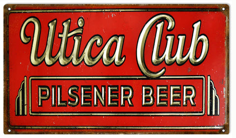 Vintage Pilsener Beer Sign 8x14