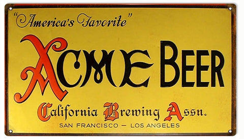 Vintage ACME Beer Sign 8x14
