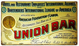 Vintage Union Bar Sign 8x14