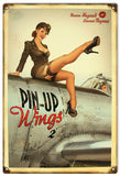 Vintage Aviation Pin Up Girl Sign