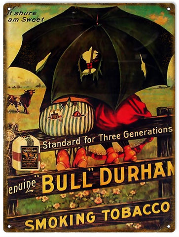 Vintage Bull Durham Cigar Sign 9x12