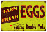 Vintage Farm Fresh Eggs Sign