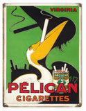 Vintage Pelican Cigarette Sign 9x12