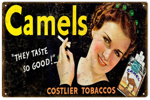 Vintage Camels Cigarette Sign