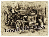 Vintage Tractor Trailer Sign 9x12