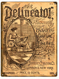 Vintage Delineator Journal Sign 9x12