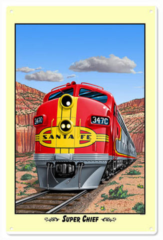 Santa Fe Railroad Sign