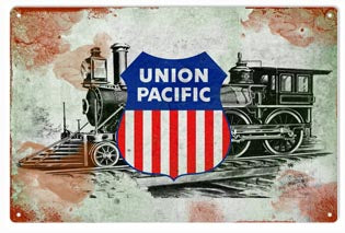 Vintage Union Pacific With 440 Railroad Sign