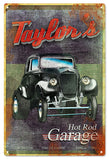 Vintage Rust Looking Taylors Garage Sign