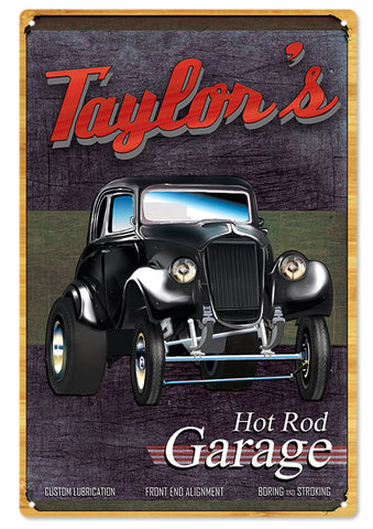 Taylors Hot Rod Garage Sign