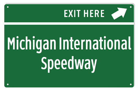 Michigan International Speedway Sign