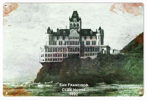 Vintage San Francisco Cliff House 1892 Sign