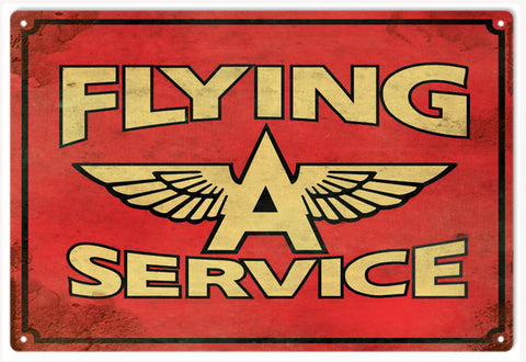 Vintage Flying A Service Sign
