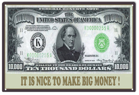$10.000 bill on a 12x18 Sign