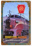 Vintaged Pennsylvania Railroad Sign