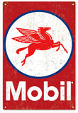 Mobil Vintage looking Sign 12x18