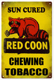 Vintaged Red Coon Chewing Tobacco