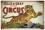 Sells and Gray Vintage Looking Sign Circus Sign