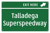 Talladega Superspeedway Sign