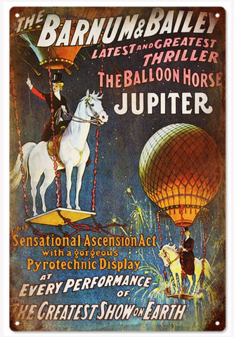 The Barnum & Bailey Balloon Horse Circus Sign