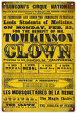 Tomkinson Clown Circus Sign