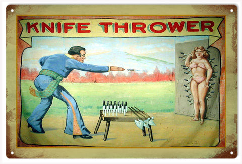 Knife Thrower Circus Sign
