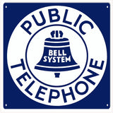 Public Telephone sign 12x12