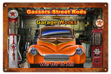 Vintage Gassers Street Rods Hot Rod Sign 16x24