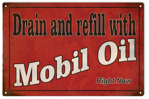 Vintage Mobil Oil Sign